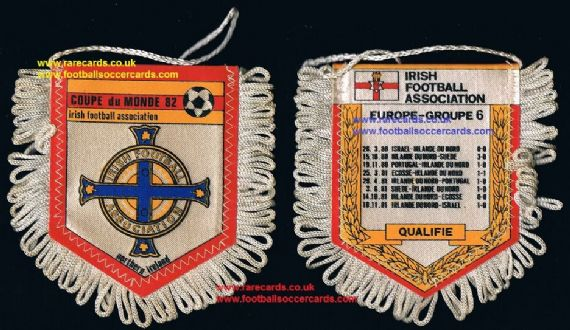 1982 Northern Ireland IFA WC82 irish Football Association French pennant 3x2""